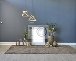 fototapete dekoratives raumdesign dunkelblaue wand und hausverzierungen