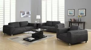 silver living room set grey light grey contrast micro suede 3