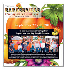 Southwest Ohio Pumpkin Patches by 53rd Barnesville Pumpkin Festival Tab 2016 By Barnesville Pumpkin