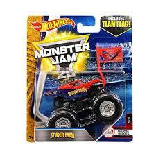 Cari Harga Mattel Hot Wheels Monster Jam Spiderman With Team Flag ...