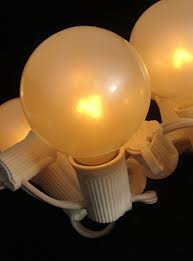 pack of 50 pearl white g50 globe replacement light bulbs