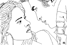 Coloriage Bella Et Edward De Twilight à Imprimer