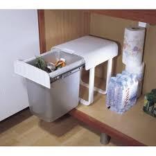 poubelle de cuisine coulissante monobac poubelle coulissante sous evier 34l manuelle accessoires de cuisines