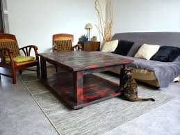 Painted Pallet Coffee Table Stacked Chalk Paint