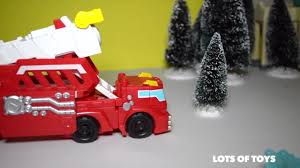 100 Rescue Bots Fire Truck Dragon Transformers Hook Ladder
