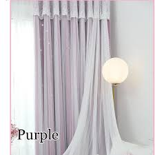 Purple Ruffle Curtain Panel by Blackout Curtain