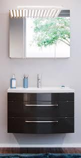 badmöbel set rima in anthrazit hochglanz badkombination 4 tlg inkl waschbecken und spiegelle