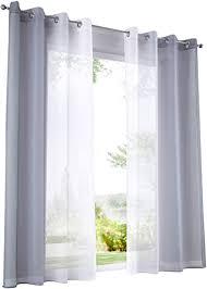 bailey jo 2er pack gardinen mit verlauf farben muster vorhang transparent voile vorhänge bxh 140x145cm grau mit ösen