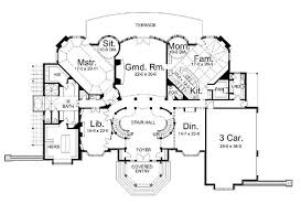 Chateau Floor Plans Chateau De Josselin 6036 3 Bedrooms And 3 Baths The House Designers