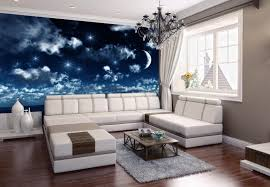 fototapete nachthimmel fototapeten tapete wandbild nacht schlafzimmer modern mond m0045