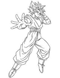 Goku Super Saiyan 1 Coloring Pages Located In GOKU Category Free Printable For Kids