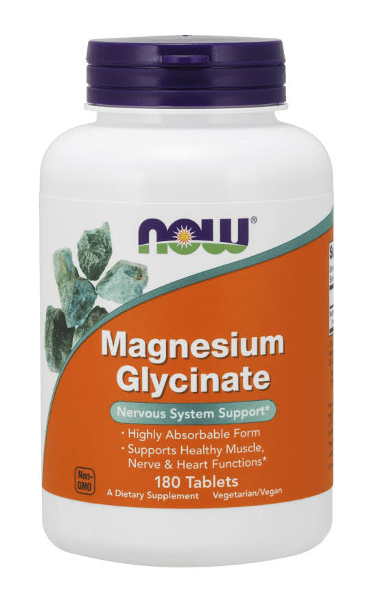 Now - Magnesium Glycinate - 180 Tablets