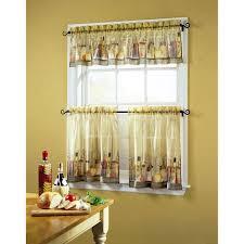 tuscany sheer printed kitchen tier curtain walmart com