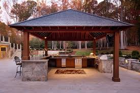 Freestanding Outdoor Kitchen with Stainless Steel Appliances and