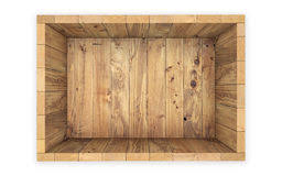 Wooden Crate On White Clipping Path 3d Rendering