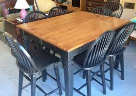 Counter Height Table W/8 Chairs • Great Buy On This Black ... Refinished Solid Oak Farmhouse Table With 6 Chairs 2 Leaf Ding Fniture In A Range Of Styles Ireland Dfs Rugs 101 The Best Size For Your Room Rug Home 30 Decorating Ideas Pictures Of Inviting Blue Lamb Furnishings Round Vintage Dropleaf Table Total Kenosha Wi Lets Settle This Do Belong In Kitchen Amish Sets