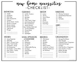 Moving Into Your First Home Or Apartment Buying A New This Printable