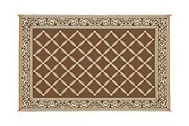 polypropylene patio mat 9 x 12 reversible mat brown beige patio mat item no 119127