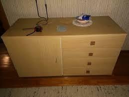 schlafzimmer sideboard kommode doppelbett 60er jahre vintage