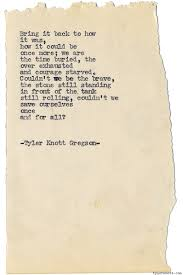 Tyler Knott Gregson — Typewriter Series #1241 By Tyler Knott ... I Planted My Selfpublished Book On Barnes Nobles Shelves Why Noble Is Getting Into Beauty Racked Eyes New Plan For College Bookstores As The Answer Book Fair Supporting Mary Marek 1114 1117 Open To Discussing Investors Call Put Itself Online Bookstore Books Nook Ebooks Music Movies Toys 06880 Forest Hills Faces Final Chapter Crains New York And Leatherbound Classics Page After Npr