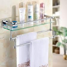 Bathroom Towel Bar With Shelf by Bathroom Glass Shelves Milano Ambience Glass Gallery Bathroom