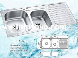 franke usa double basin stainless steel top mount kitchen sink