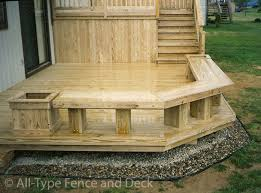 build deck storage bench seat friendly woodworking projects