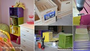 DIY Colorful Wood Crate Bookcase FabArtDIY Wine Ideas And Projects
