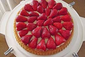 erdbeer pudding kuchen herta