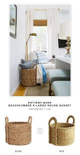 Pottery Barn Beachcomber Extra Large Round Basket - Copycatchic Pottery Barn Beachcomber Basket With Chunky Ivory Throw Green Laundry Basket Round 12 Unique Decor Look Alikes Vintage Baskets Crates And Crocs Birdie Farm Arraing Extra Large Copycatchic Summer Home Tour Tips For Simple Living Zdesign At Celebrate Creativity Au Oversized Rectangular Amazing Knockoffs The Cottage Market My Favorites On Sale Sunny Side Up Blog 10 Clever Ways To Use Baskets