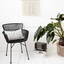 Black Rattan Dining Chair | House Doctor | Design Vintage Lotta Ding Chair Black Set Of 2 Source Contract Chloe Alinum Wicker Lilo Chairblack Rattan Chairs Uk Design Ideas Nairobi Woven Side Or Natural Flight Stream Pe Outdoor Modern Hampton Bay Mix And Match Brown Stackable