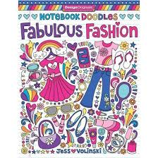 Notebook Doodles Fabulous Fashion Adult Coloring Book