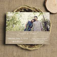 Classic Rustic Burlap Photo Wedding Invitation EWI324