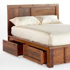 emmerson u0026 174 reclaimed wood storage bed natural wood storage