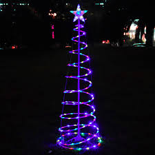 Spiral Pre Lit Christmas Trees by Outside Christmas Tree Lights Christmas Lights Decoration