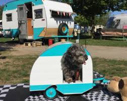 Vintage Style Doghouse Trailer Camper
