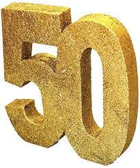 generique h104 goldene glitzer zahl 50 tischdekoration 1 stück rot einheitsgröße