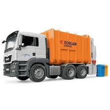 Bruder MAN TGS Rear Loading Garbage Truck - Orange | Online Toys ...