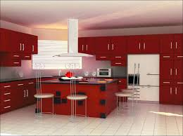 Inspirational Red Themed Kitchen Ideas Remodel Grey Walls Country Wall Decor Design Black
