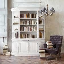 bibliothèque en bois recyclé ivoire l 190 cm flaubert maisons du