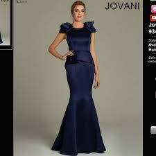 59 jovani dresses u0026 skirts navy peplum mermaid dress