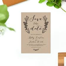 Brown Kraft Wedding Invitations Native Flora Butterly Florals Hadn Drawn Rustic Invites Australia Perth Sydney