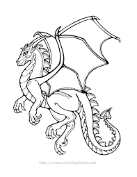 Printable Coloring Page Dragon 12 Peoples Fantasy