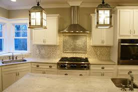 cement tile and tin ceiling tile backsplash in my gray and white