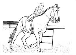 Attractive Western Horse Coloring Pages Girl Riding Drawing At GetDrawings Com Free For Personal Use