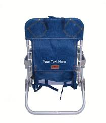 Rio Gear Backpack Chair Blue by Imprinted Personalized Rio 4 Position Deluxe Lace Up Aluminum