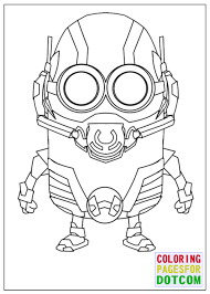 Minion Ant Man Mode Coloring Pages