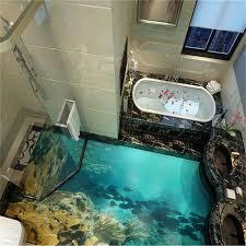 beibehang 3d bodenbelag individuelle fototapeten meer welt wirklich 3d boden tapete badezimmer selbstklebende pvc wasserdichte tapete