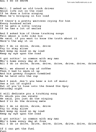 Johnny Cash Song: All I Do Is Drive, Lyrics Truckdriverworldwide Old Timers Driving School 2018 Indian Truck Auto For Android Apk Download Roger Dale Friends Live Man Hq Music Country Musictruck Manbuck Owens Lyrics And Chords Jenkins Farm A Family Business Fitzgerald Usa Songs Of Iron Ripple Top 10 About Trucks Gac