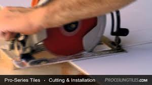 proseries how to cut ceiling tiles youtube